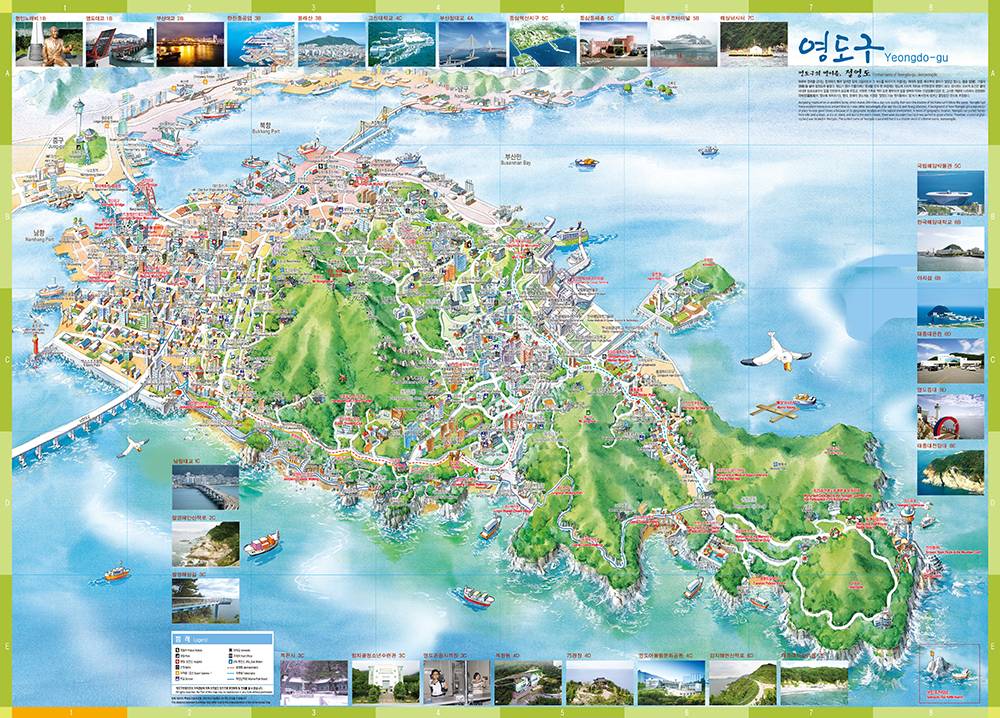 Yeongdo Tour map